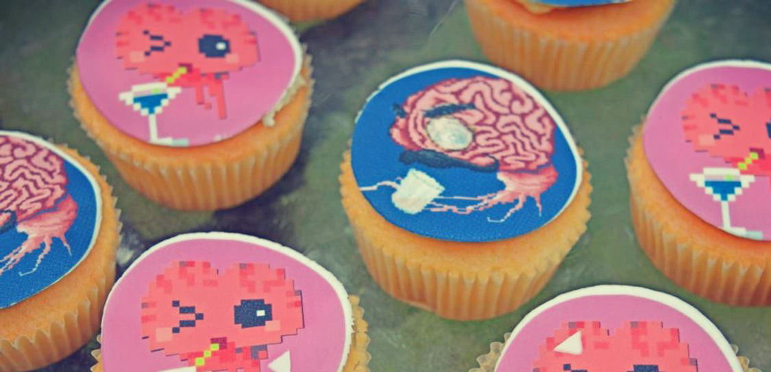 Close up photo of Pixelnebriation cupcakes
